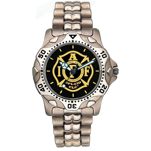 IAFF Stainless Steel Black Face Watch