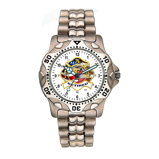 IAFF Retired Engravable Stainless Watch