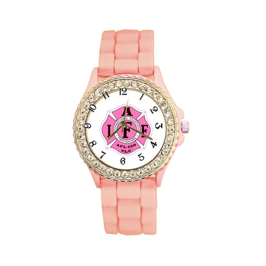 IAFF Pink Silicone Band Watch