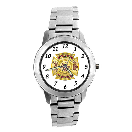 Fire Chief  Silver Engravable Watch