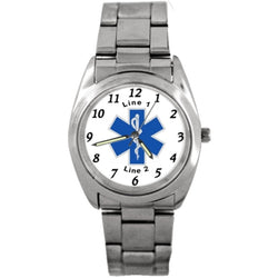Star of Life Silver Band Watch