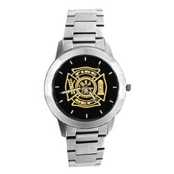 Fire Dept Medallion Engravable Watch