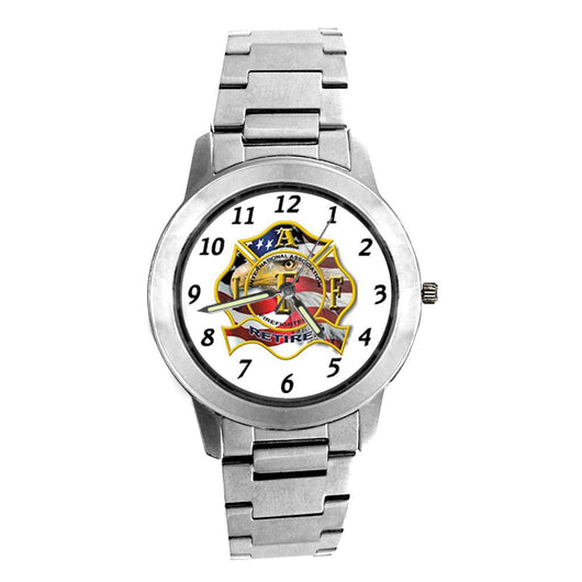 IAFF Retired Silver Engravable Watch