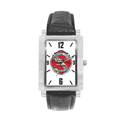 Dive Team Engravable Watch with Black Leather Band