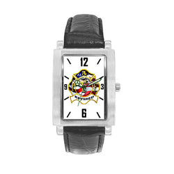 IAFF Retired Engravable Watch with Black Leather Band