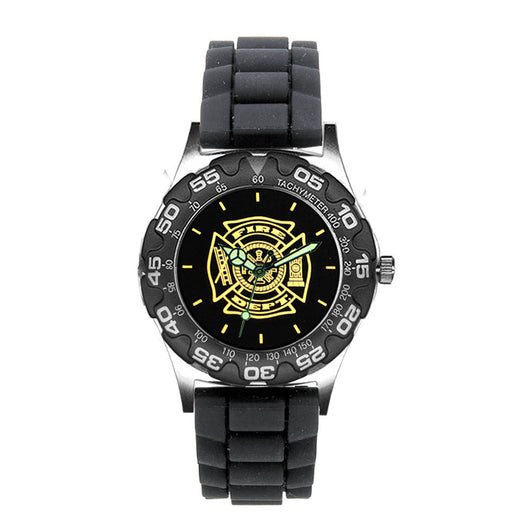 Fire Dept Medallion Engravable Dive Watch