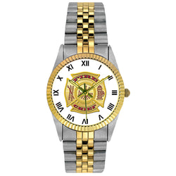Fire Chief 2-Tone Engravable Watch