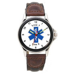 Star of Life Leather Band Watch