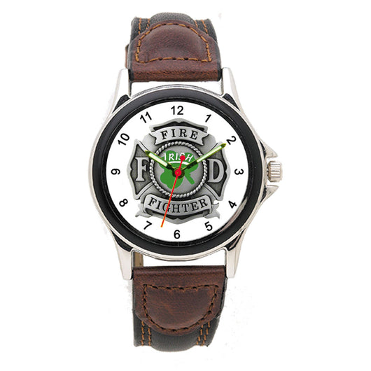 Irish Leather Band Engravable Watch