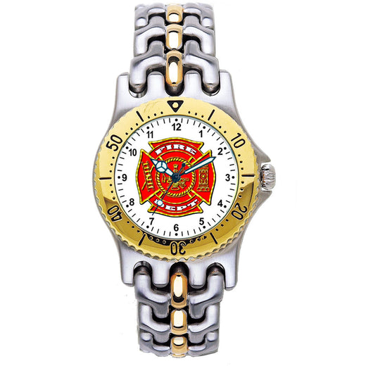 Fire Dept 2-Tone Engravable Watch