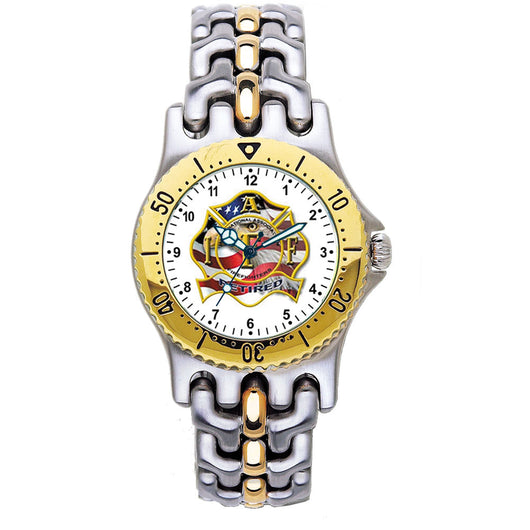 IAFF Retired 2-Tone Engravable Watch