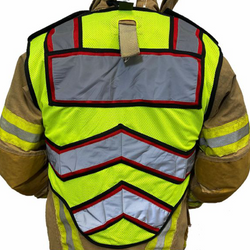 BLANK UltraBright 6-Point Breakaway Public Safety Vest FIRE RED