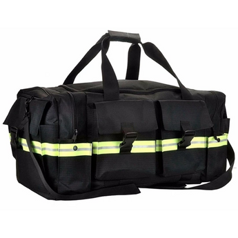 Customized Black Fire Station Duffel Bag