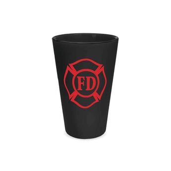 Matte Black and Red Maltese Straight Up Pint Glass