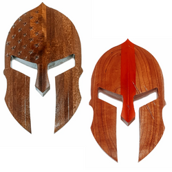 Wood Spartan Mask- Stars & Stripes or TRL