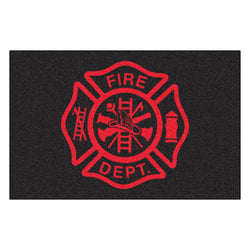 Fire Dept Maltese Floor Mat is a Great Firefighter Gift