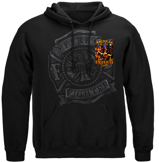 Elite Breed American Firefighter Hooded Sweat Shirt