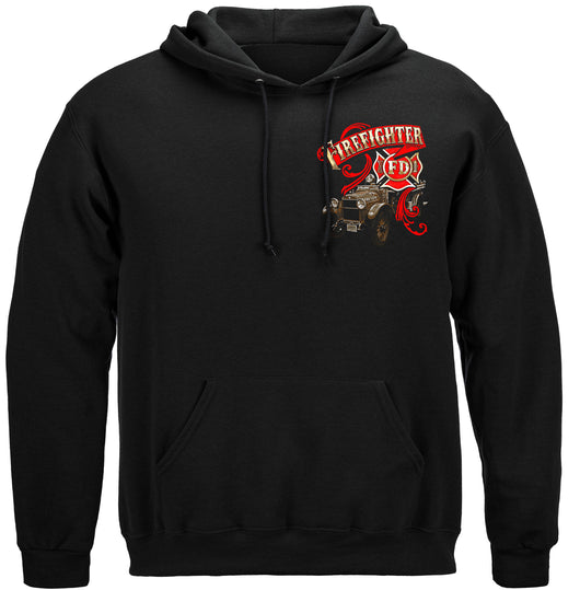 Elite Breed Antique Fire Dept Hooded Sweat Shirt