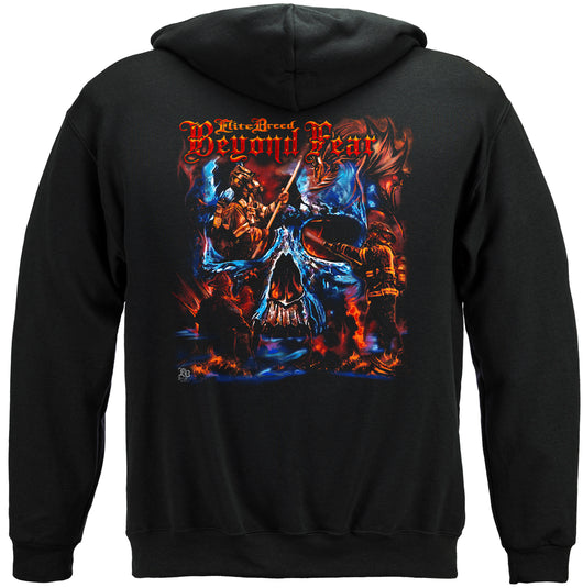 Elite Breed Beyond Fear Skull Hooded Sweat Shirt