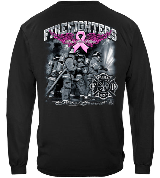Elite Breed Fight For A Cure Firefighter Long Sleeves