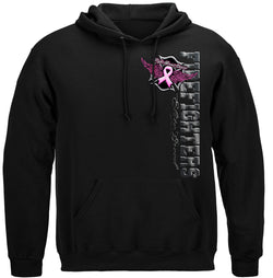 Elite Breed Fight For A Cure Firefighter Hooded Sweat Shirt