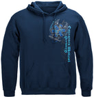 Elite Breed EMS Chrome Wings Silver Foil Hooded Sweat Shirt
