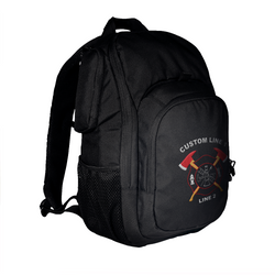 Customized TRU-SPEC Rambler Black Firefighter Backpack with Crossed Axes Embroidery