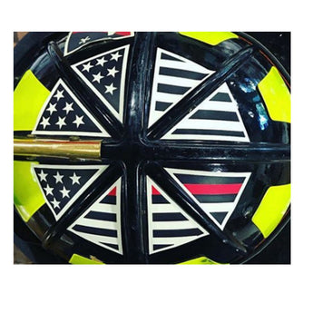IdentiFire American Flag Thin Red Line Crown Helmet Decals Reflective