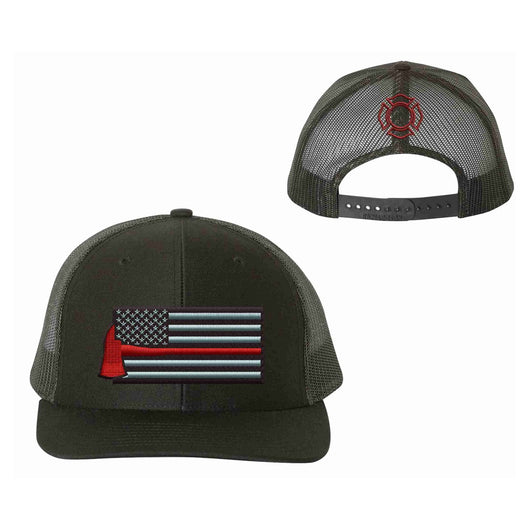 Richardson Firefighter Thin Red Line Axe Hat