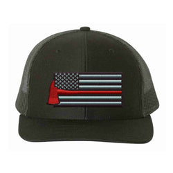 Firefighter Thin Red Line Axe Flag Hat