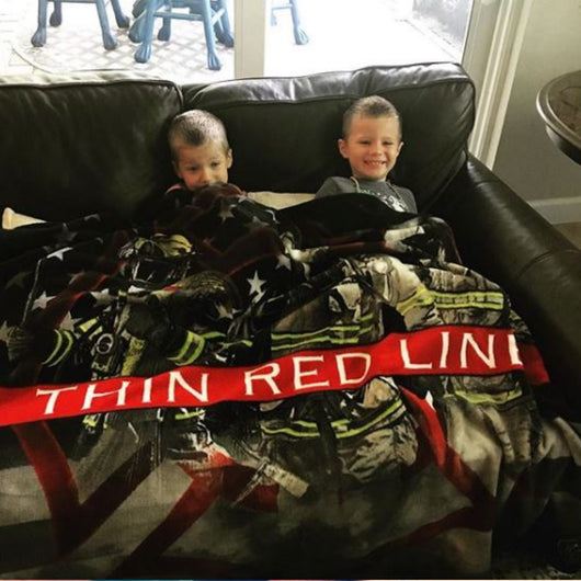 American Firefighter Thin Red Line Blanket