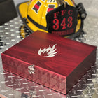 Rabbit Wine Set with Engraved Fire Fighter Flame