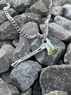 Stainless Steel Firefighters Ax Necklace- Isaiah 6:8