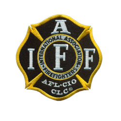 IAFF Black and Gold Maltese Patch