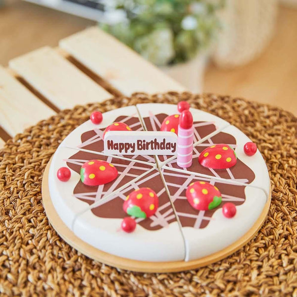 Wooden Birthday Cake