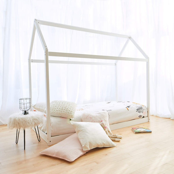 House Bed WHITE - Twin Size
