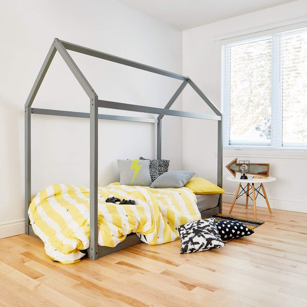 House Bed GREY - Twin Size
