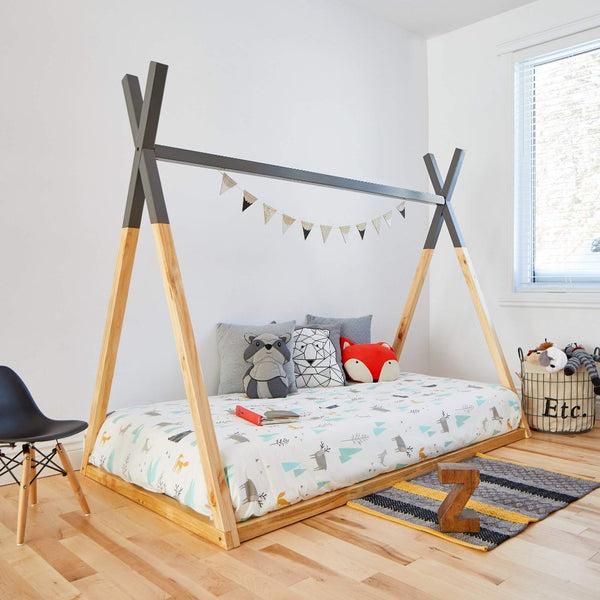 Teepee Bed GREY TOP - Twin Size