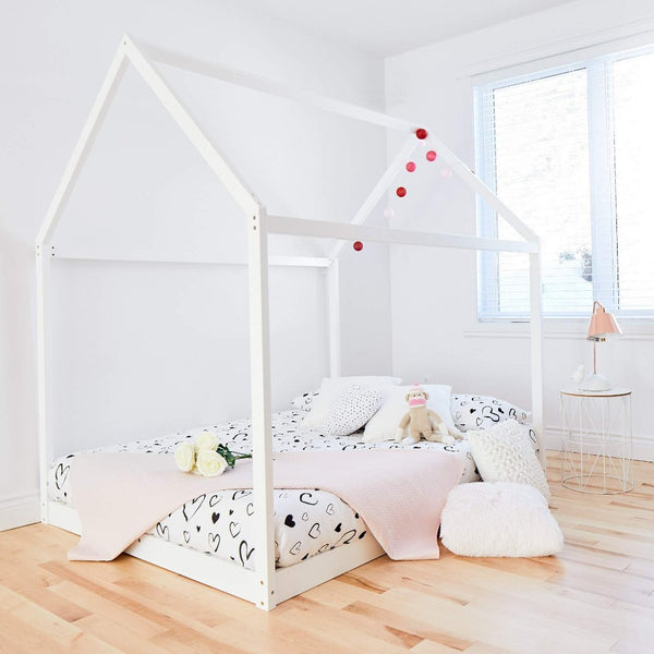 House Bed WHITE - Double Size