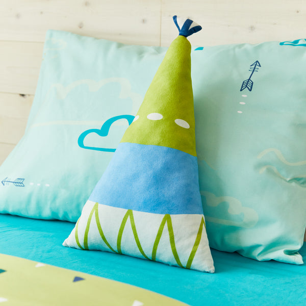 Teepee shaped cushion