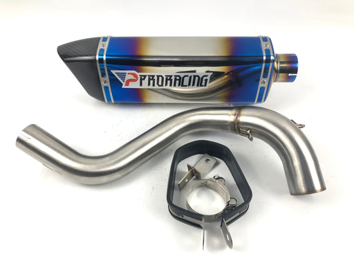 KTM Duke 200/390 (11-16) ProRacing®Exhaust Link Pipe and Silencer Stainless