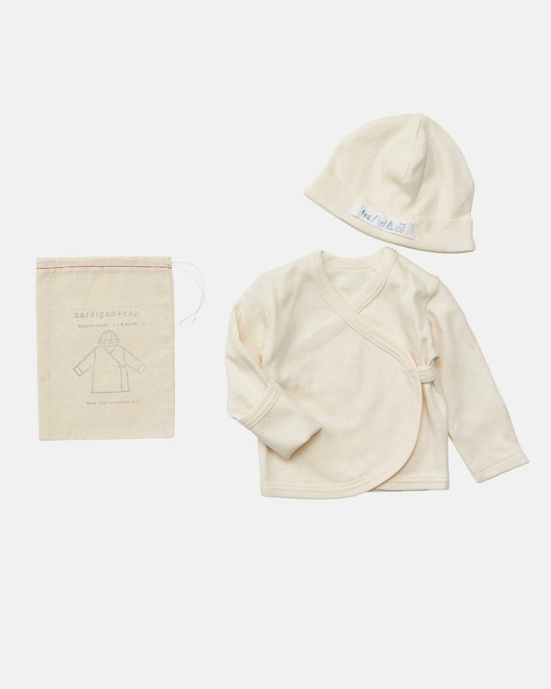 Organic Cotton Cardigan and Cap