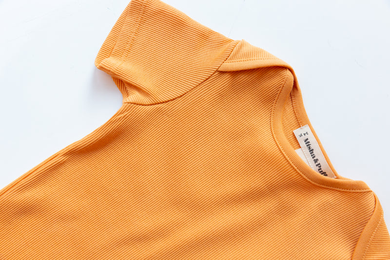 Ribbed Slim Tee / Apricot