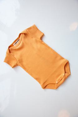 Ribbed Onesie / Apricot