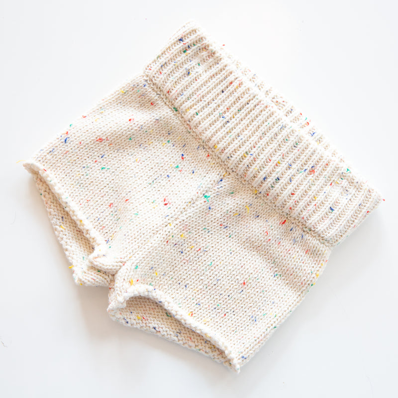 Speckled Knit Short