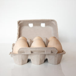 Carton of Wooden eggs