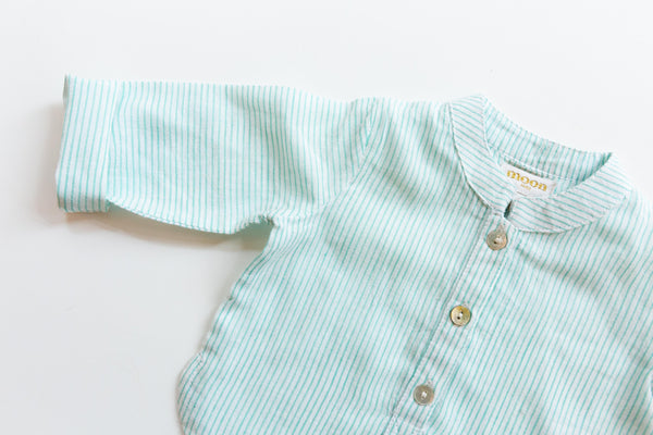 Green Striped Henley