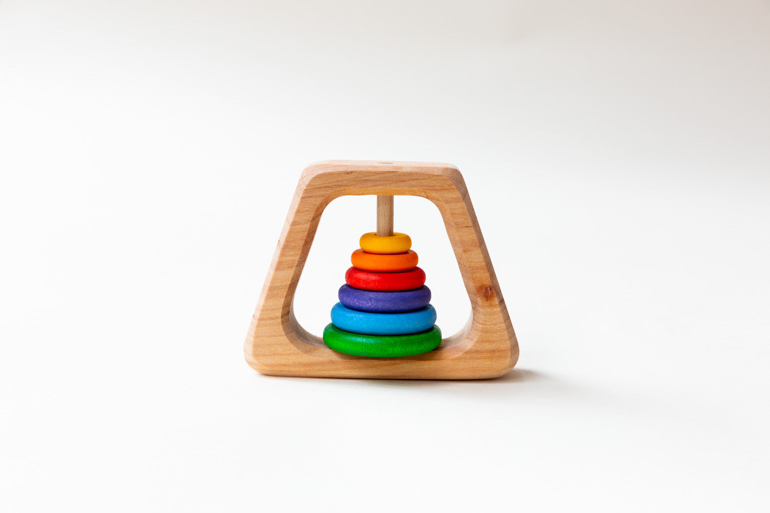 Grimm's Wooden Teething Rattle