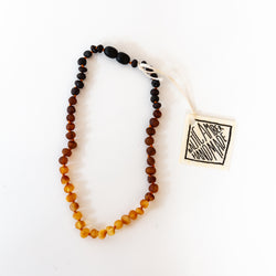 Raw Amber Ombre Necklace
