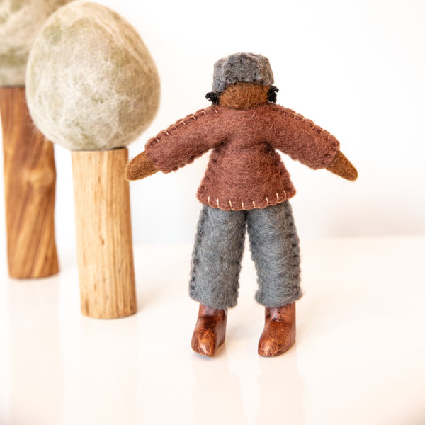 Felt Doll with Brown Shirt